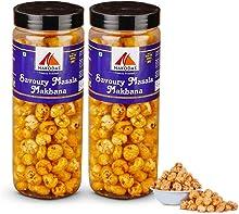 N Nakodas Roasted Savoury Masala Makhana Fox Nuts (Light Healthy Snacks/ Munchies) (70 gm Each, Pack of 2)
