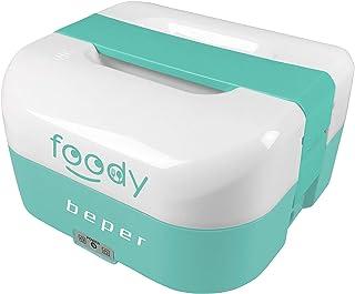 Beper - Chauffe-Plat Portable 2en1, Conteneur Divisible en 4, Allume-Cigare 12V pour la Voiture, 50W pour la Maison/le Bur...