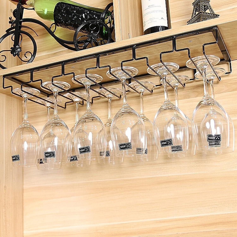 ahorra 50% -75% de descuento Lei ZE Jun Jun Jun UK- Debajo del gabinete Que cuelga Stemware Rack Sostenga Las Copas de Vino Hierro Rack de Vino 60x22.5cm Botelleros (Tamaño   Negro)  venta caliente