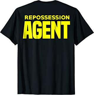 Repossession Agent T-Shirt Vehicle Debt Collections Recovery