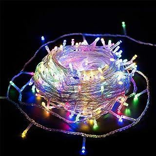Dooit Christmas Fairy String Lights 100 LED 49 ft Indoor String Lights 29V 8 Modes Adjustable Plug in Fairy String Lights ...