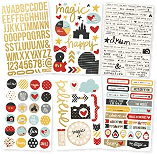 Simple Stories Say Cheese II Foil Stickers Sheets (6 Pack), Gold