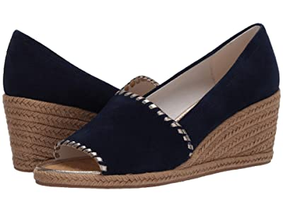 Jack Rogers Palmer Wedge (Midnight) Women