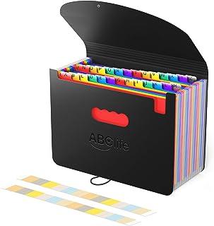 Trieur A4 26Pochettes/Range Document/Rangement Papier-ABClife Trieur Valisette Rangement documents Classeur Organiseur Doc...