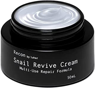 [Recon by Luhar] Snail Repair Cream All-In-One Facial Moisturizer – Snail Mucin Extract Korean Skin Care Premium Rejuvenation & Anti-Wrinkle Hydrating – Heal Scars Face Cream