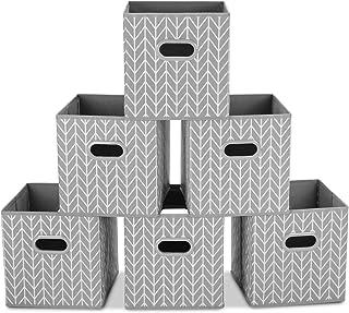 MaidMAX Boîtes de Rangement Ouvertes, Tiroir en Tissu,Cubes de Rangement en Tissu, Pliable Organisateurs conteneurs, Boîte...