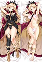 Yestrong Irkalla-Fate Grand Order Body Pillowcase, Anime Pretty Double-Sided Pattern Peach Skin Pillow Cover for Home Sofa Decorative Anime Fans' Favorite 100 x 34cm(39.37in x 13.38in)
