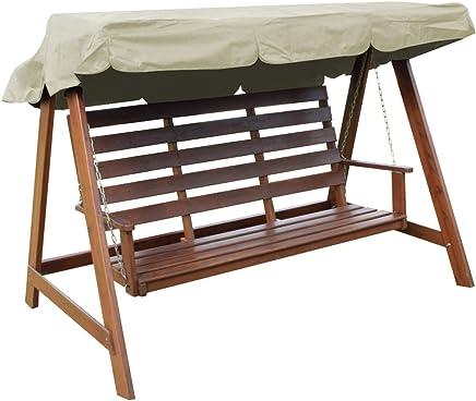 Woodside - Dachbezug für 2- & 3-Sitzer-Gartenschaukel - ideal als Ersatzdach - cremefarben - 3-Sitzer