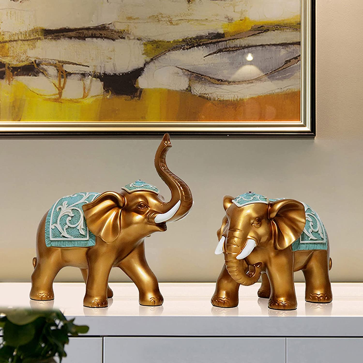 Elephant Decor Statue Shelf Table free shipping for Dining Centerpieces Surprise price