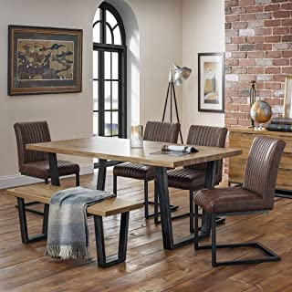 Julian Bowen Brooklyn Dining Set with Chairs  amp  Bench