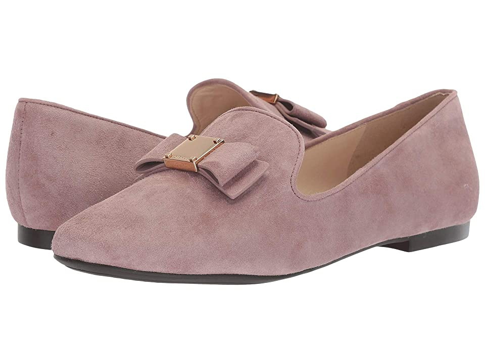 Cole Haan Tali Bow Loafer (Twilight Mauve Suede) Women's Shoes, Pink