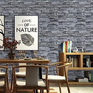 ورق جدران من الطوب Homya مقاس 45 * 600 سم، ورق جدران ذاتي اللصق من البولي فينيل كلوريد لغرفة المعيشة ورق جدران لغرفة المعي...