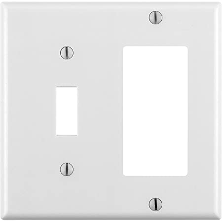 Leviton 88605 2 Gang 1 Toggle 1 Decora Gfci Device Combination Wallplate Oversized Thermoset Device Mount White Switch And Outlet Plates