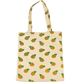 Pomeat Pineapple Tote Bag Canvas Pineapple Beach Shoulder Tote Bag for Go Shopping
