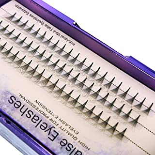 Scala 60PCS 10Root Thickness 0.07mm C Curl Natural Soft False Eyelash Extension 3D lashes Black lash Deluxe Lashes Fake Eyelashes (12mm)