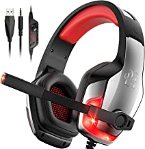 Best Hunterspider Gaming Headset for PS4 ,Sony PSP, Noise Canceling Gaming Headset with Microphone &LED Light , Gaming Headphones Compatible with PC/PS4/Nintendo Switch /Xbox One(Adapter Not Included) Review