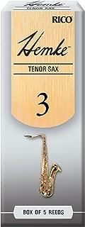 D'Addario Woodwinds Hemke Tenor Sax Reeds, Strength 3.0, 5-pack - RHKP5TSX300