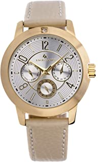 Louis Arden for Women - Analog Leather Watch -LA3030L-GD-WHT-GD