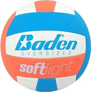 Baden Softlight Youth Oversized Volleyball-(30 inch), White/Blue/Orange