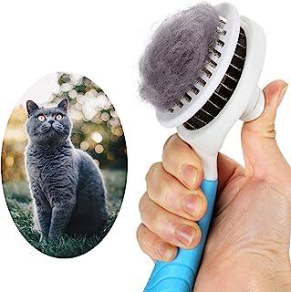 برس برس شستشوی گربه ، برس تمیز کننده خود تمیز شونده برای سگها ابزار برس برس تمیز کردن حیوانات خانگی به آرامی زیر سست و برس موهای نرم و نرم مو را برای تمیز کردن حیوانات خانگی از بین می برد