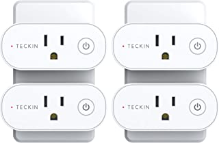 Smart Plug Wifi Outlet Compatible With Alexa, Echo, Google Home and IFTTT, Teckin Mini Smart Socket with Energy Monitoring...