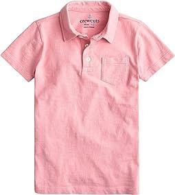 Short Sleeve Garment Dye Polo (Toddler/Little Kids/Big Kids)