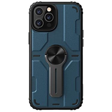 """Nillkin Case for Apple iPhone 12 Pro Max (6.7"""" Inch) Medley Case Military Grade Finish (PC + TPU) Built in Stand (Removable) Raised Bezel for Camera Protect Blue"""