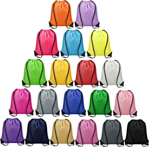 Vorspack Drawstring Backpack 20 Pieces for Party Gym Sport Trip