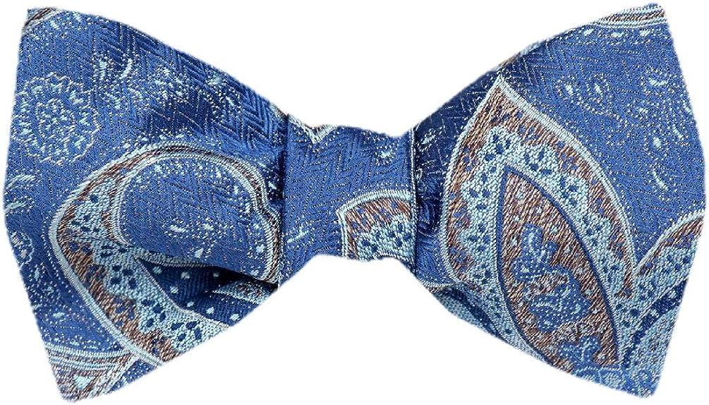 FBTZ-1299 - Men's Silk Self Tie Bowtie Tie Yourself Bow Ties