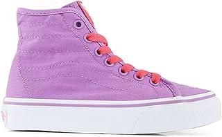 Vans Girls Sk8-Hi Decon Skateboarding Shoe (Pop) African Violet/Came VN0004J4K5J