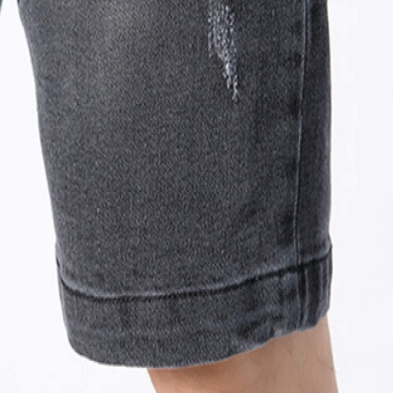 Men's Classic Denim Shorts Fashion Relaxed Outdoor Trend Stitching Washed Thin