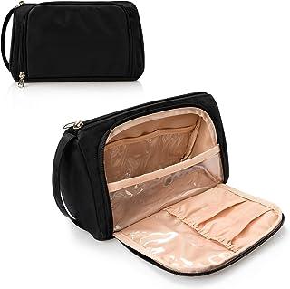 کیف آرایش کوچک ، کیف آرایش ، برنامه آرایشی مسافرتی برای زنان و دختران (پارچه آکسفورد ، سیاه)