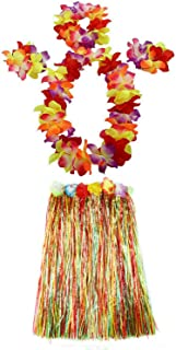 1 Set 60cm Adult Hula Grass Skirt Hawaiian Party Costume Luau Dance Skirts
