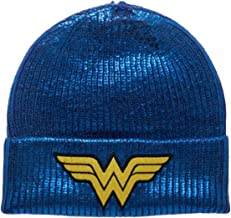 BioWorld - DC Comics Wonder Woman Blue Metallic Coated Beanie