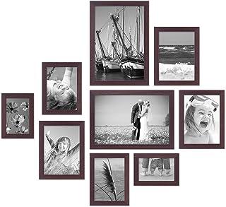 ArtzFolio Wall Photo Frame D278 Dark Brown 4x6-2pc;5x7-2pc;6x8-3pc;8x10-2pc;Set of 9 PCS