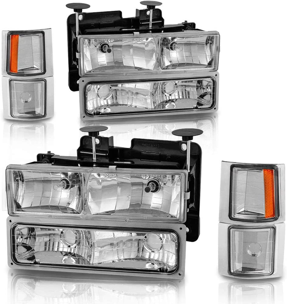 Headlight New popularity Assembly for 94-98 Chevy C Subu 1500 3500 Tahoe K 2500 Bargain