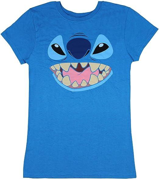 Disney Stitch Lilo y Stitch Juniors Cara carácter gráfico T-Camisa