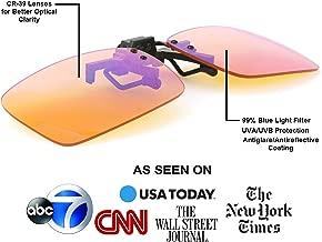 Dr. S Blue Light Blocking Computer Glasses, Sunglasses, 99% Blue Light Filter, Anti-Glare, UV Protection,Radiation Protection, Gaming, Better Sleep, Reduce Eyestrain Designed by an Eye Doctor (Clip)