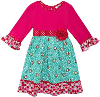 Counting Daisies Girls Holiday Snowman Dress (2t-6x)