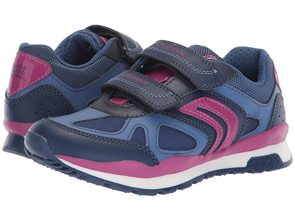 Geox Kids Pavel Girl 2 (Little Kid/Big Kid) (Navy/Dark Fuchsia) Girl