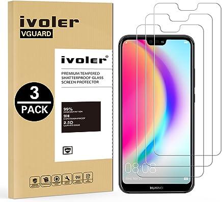 iVoler [Pack de 3] Verre Trempé pour Huawei P20 Lite, Film Protection en Verre trempé écran Protecteur vitre