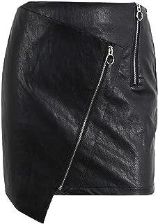 Vintage high Waist Leather Skirt Punk Short Black Pencil Skirt Mini Skirts Womens Bottoms