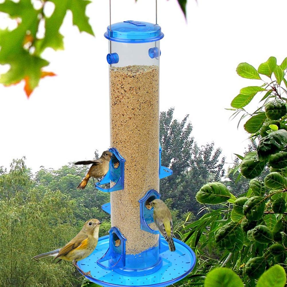SHKY Efecto Colgante, alimentador de Semillas para Aves Silvestres de jardín, con Tapa y Bandeja de alimentación fáciles de llenar, Cabina clásica Colgante, alimentador de Aves semilla: Amazon.es: Hogar