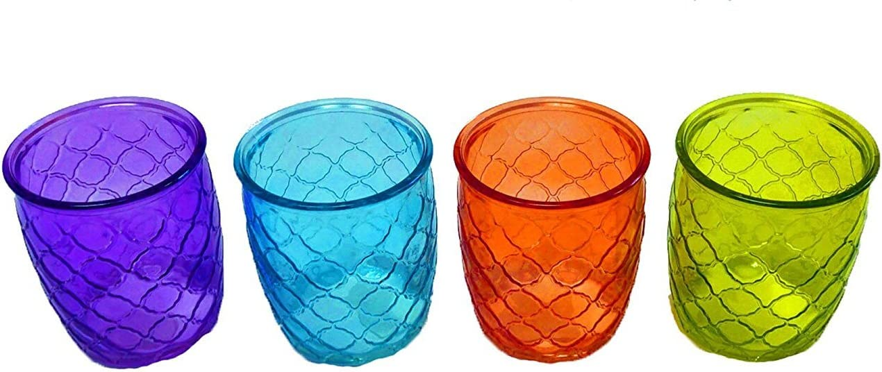 Garden Gate with Style 14 oz. Double Old Fashioned Glass (Set of 4)