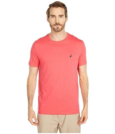 Nautica Short Sleeve Solid Crew Neck T-Shirt (Red 3) Men