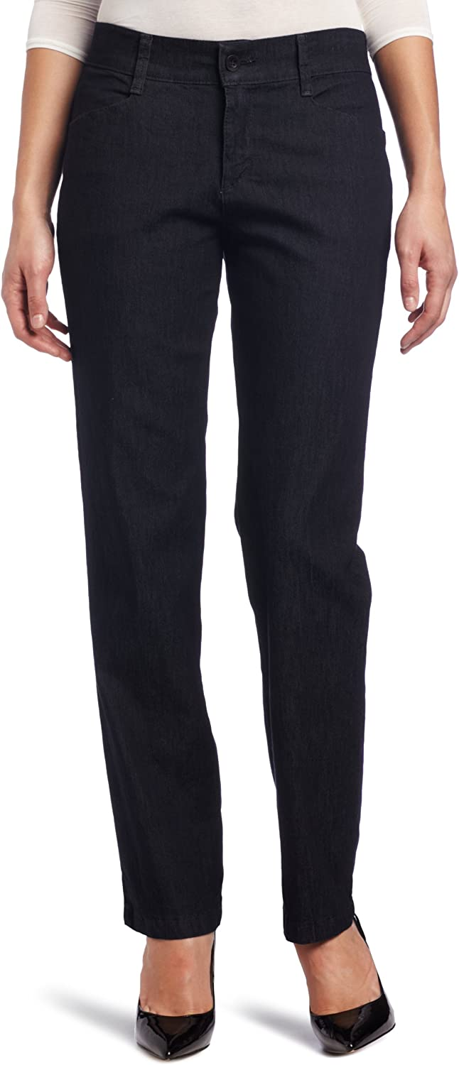 Lee Womens Missy Misses Relaxed Fit Plain Front Pant