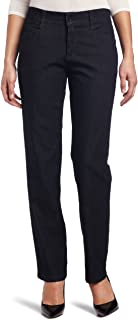 Lee Women's Petite Relaxed Fit Plain Front Straight Leg Pant, Indigo Rinse, 4 Small