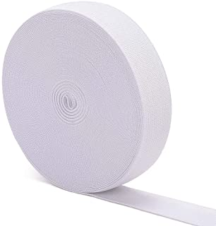 Airisoer Elastic Bands for Sewing White Knit Elastic Spool High Elasticity Wide 1 Inch x 12 Yard