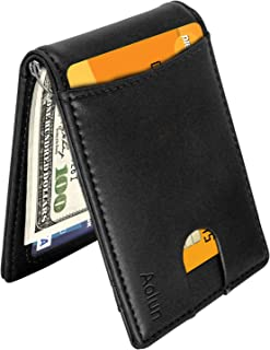 Minimalist Wallet for Men,RFID Blocking, Bifold Slim Front Pocket Wallet with Money Clip