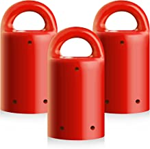 MagnetPal 3 Pack Heavy-Duty Neodymium Anti-Rust Magnet, Best for Magnetic Stud Finder/Key Organizer/Indoor and Outdoor Multi Uses, Red with Key Ring (SP-MPM3RD)